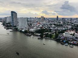aerial river view skyline bangkok photography