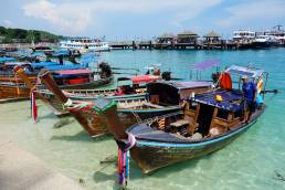 boats docked at Ko Phi Phi Thailand