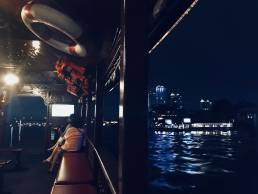 river ferry bangkok night photography