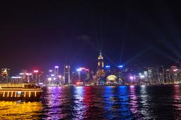 hong kong skyline at night travel photography