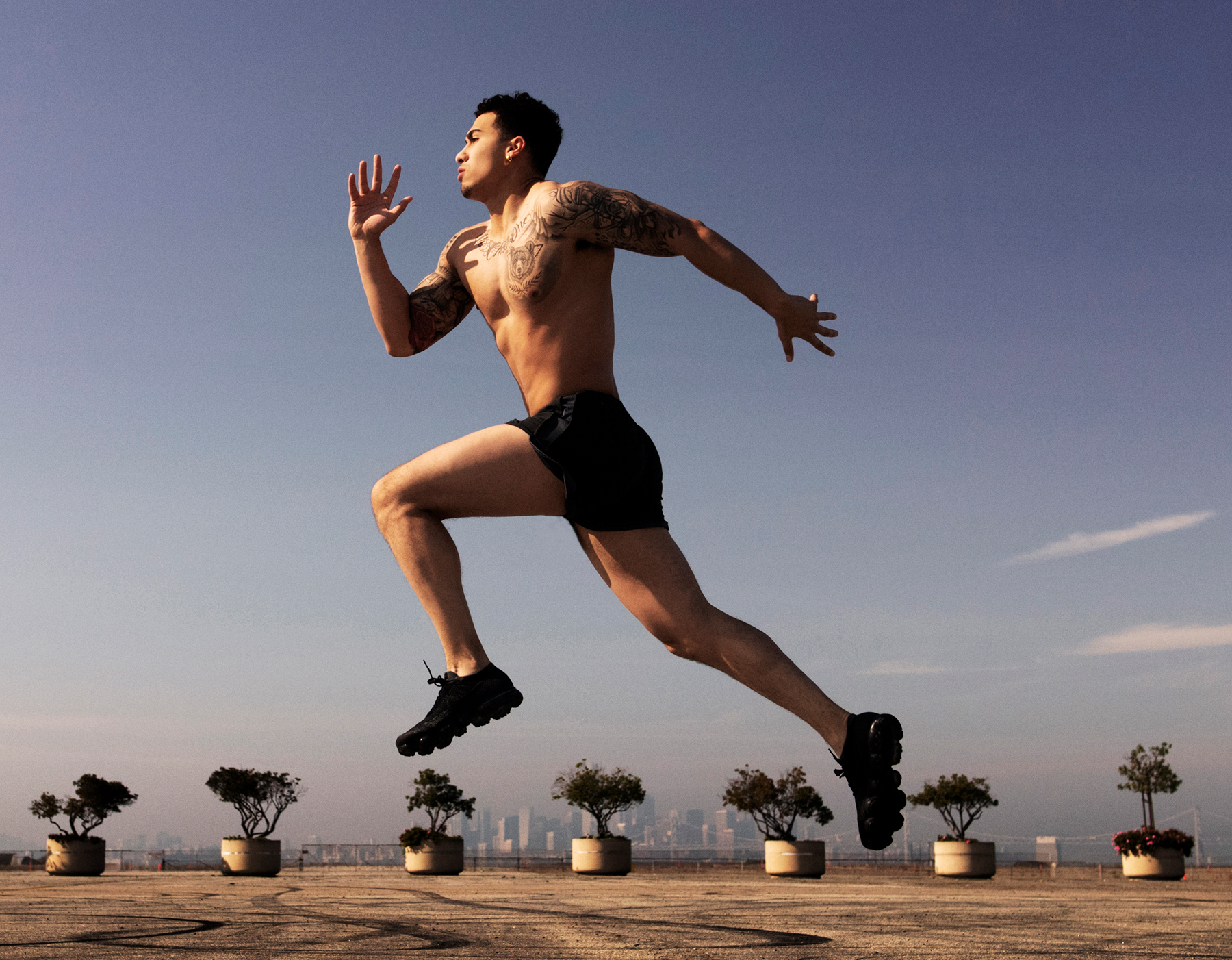athletic male jumping art director for lifestyle photography