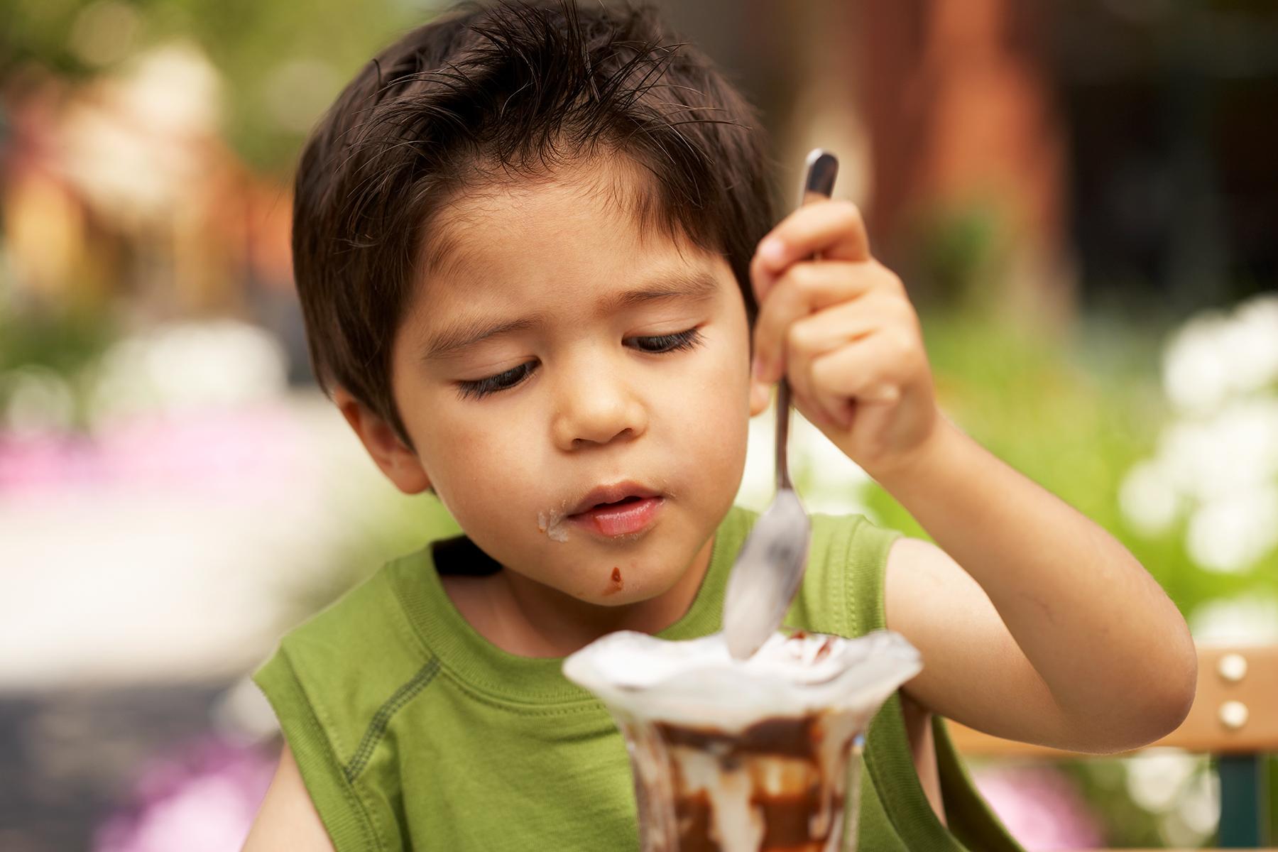 boy eating ice cream kids photography