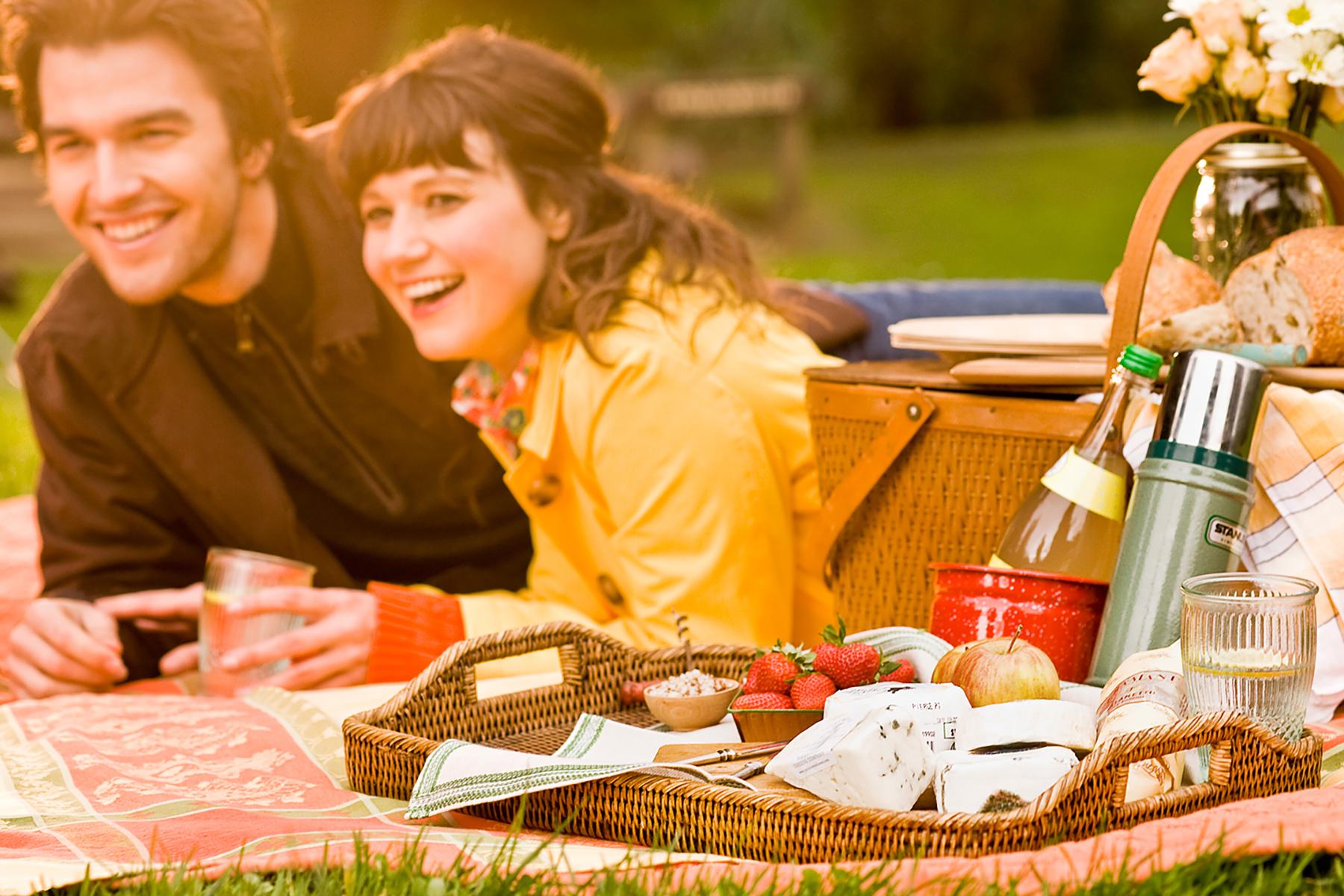 couple on picnic photo art direction