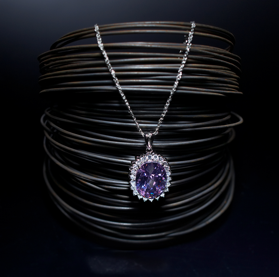 gemstone necklace product art director