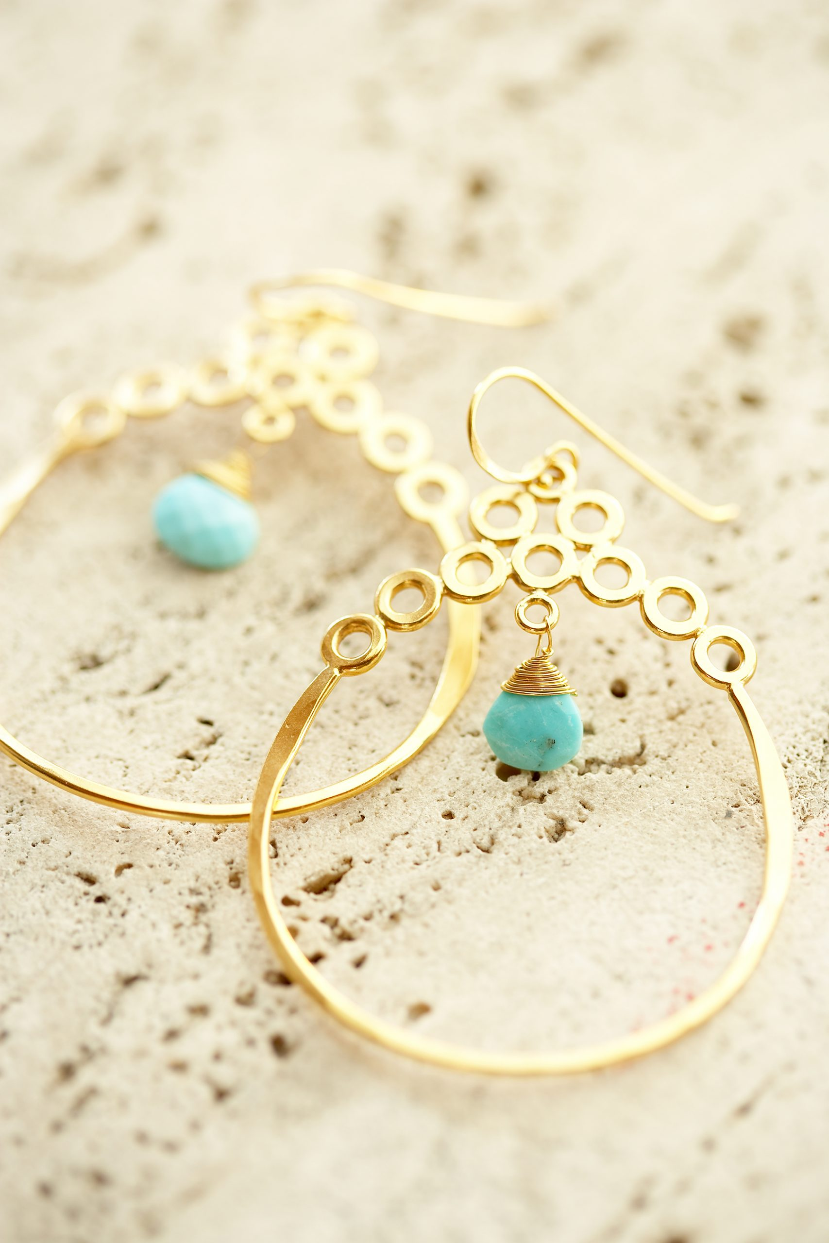 gold earring product photography scaled