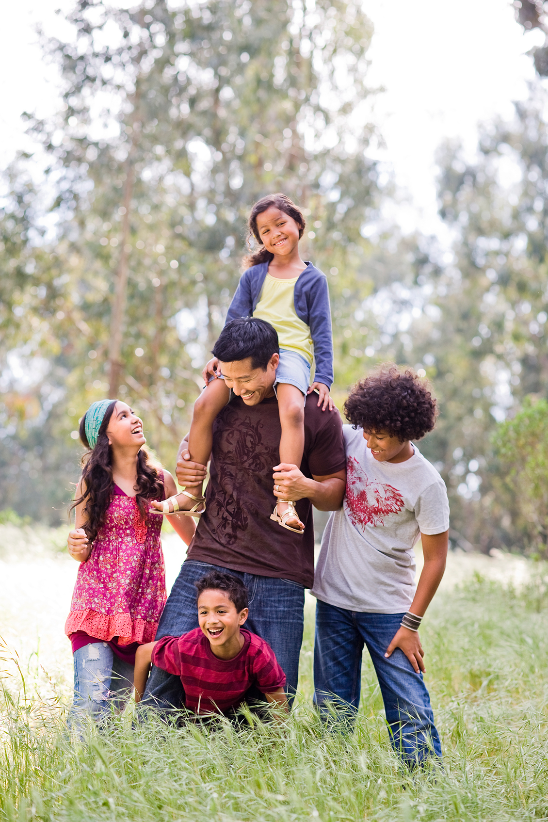 happy family outdoors lifestyle photography art director