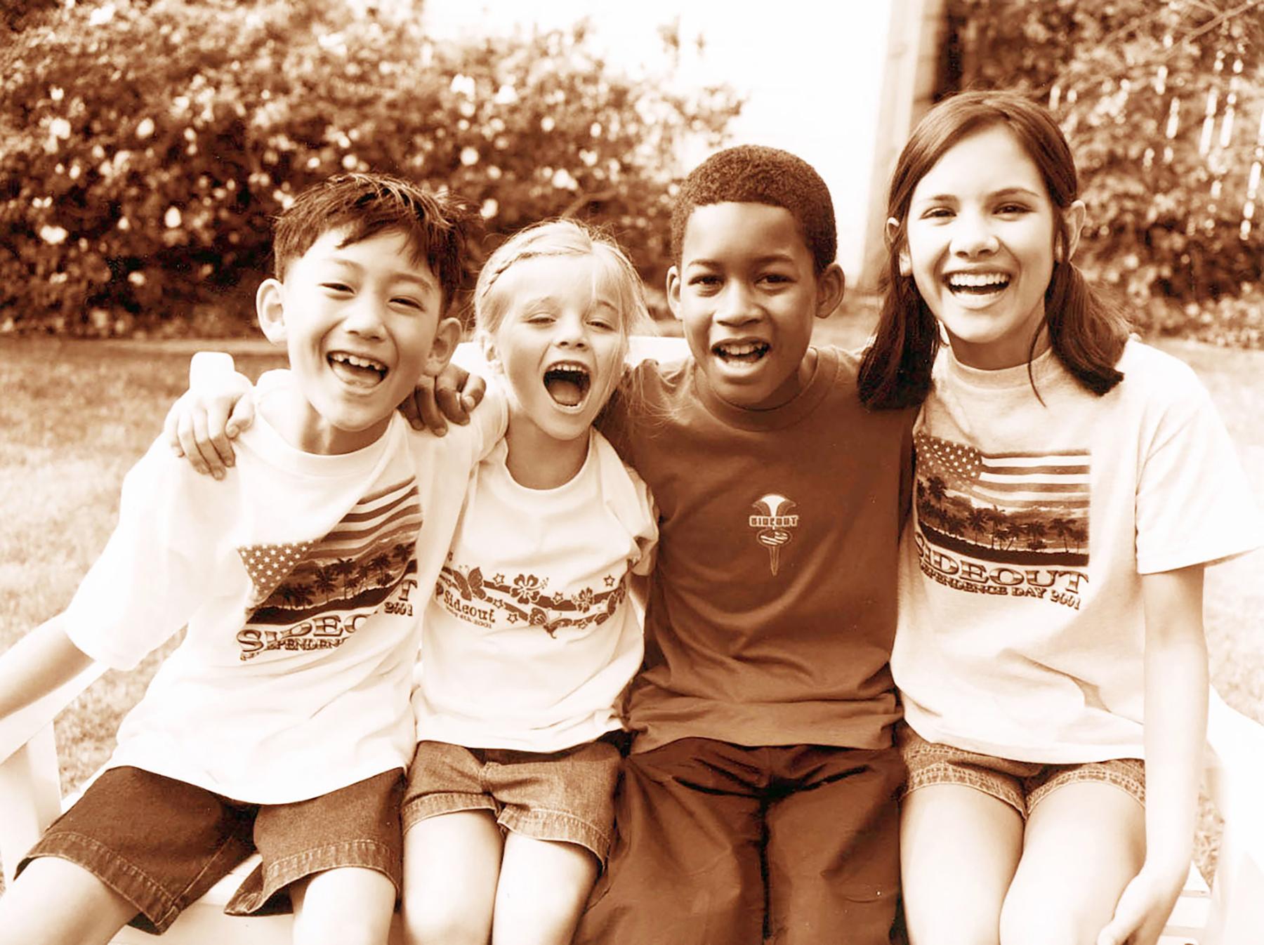 happy multi racial children kid art director