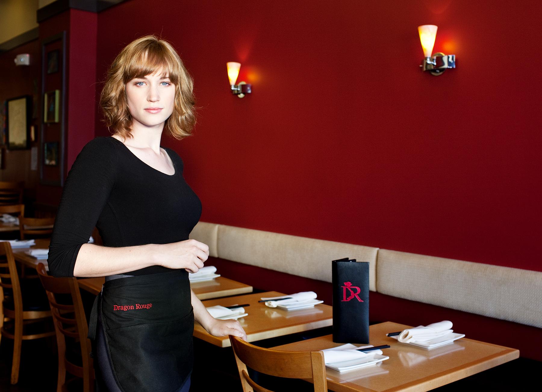 restaurant server lifestyle photography