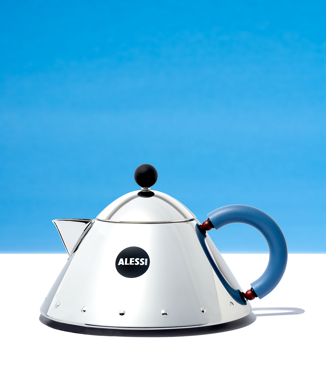vintage Alessi teapot professional product photography
