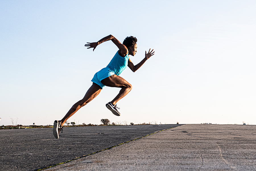 woman athlete running art director for lifestyle photography