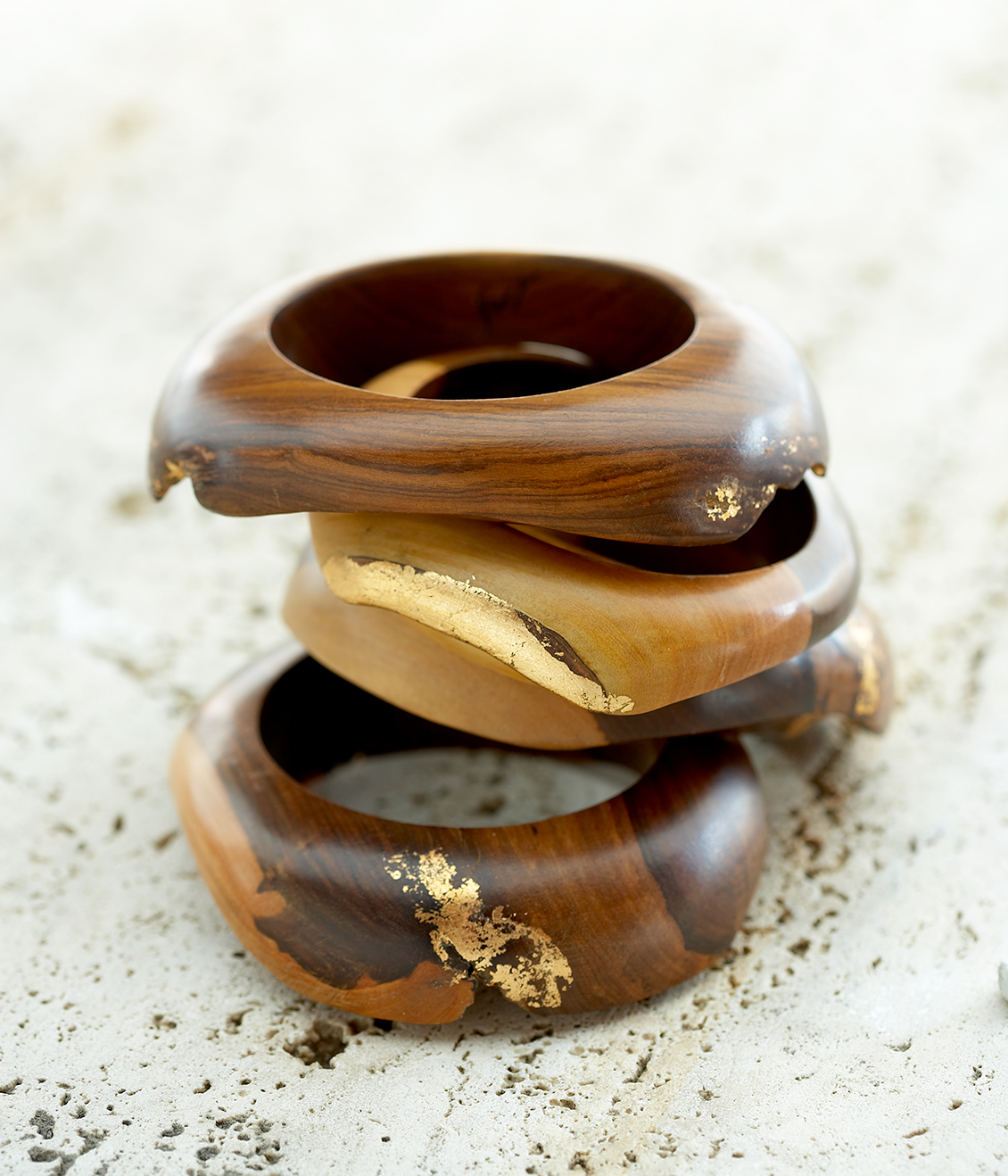 wood bangles professional product photography