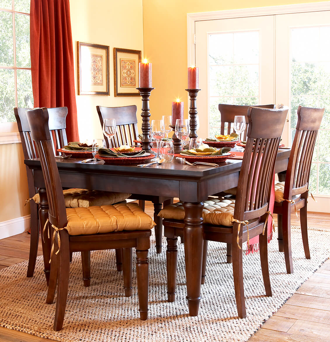 dining table interior design photography