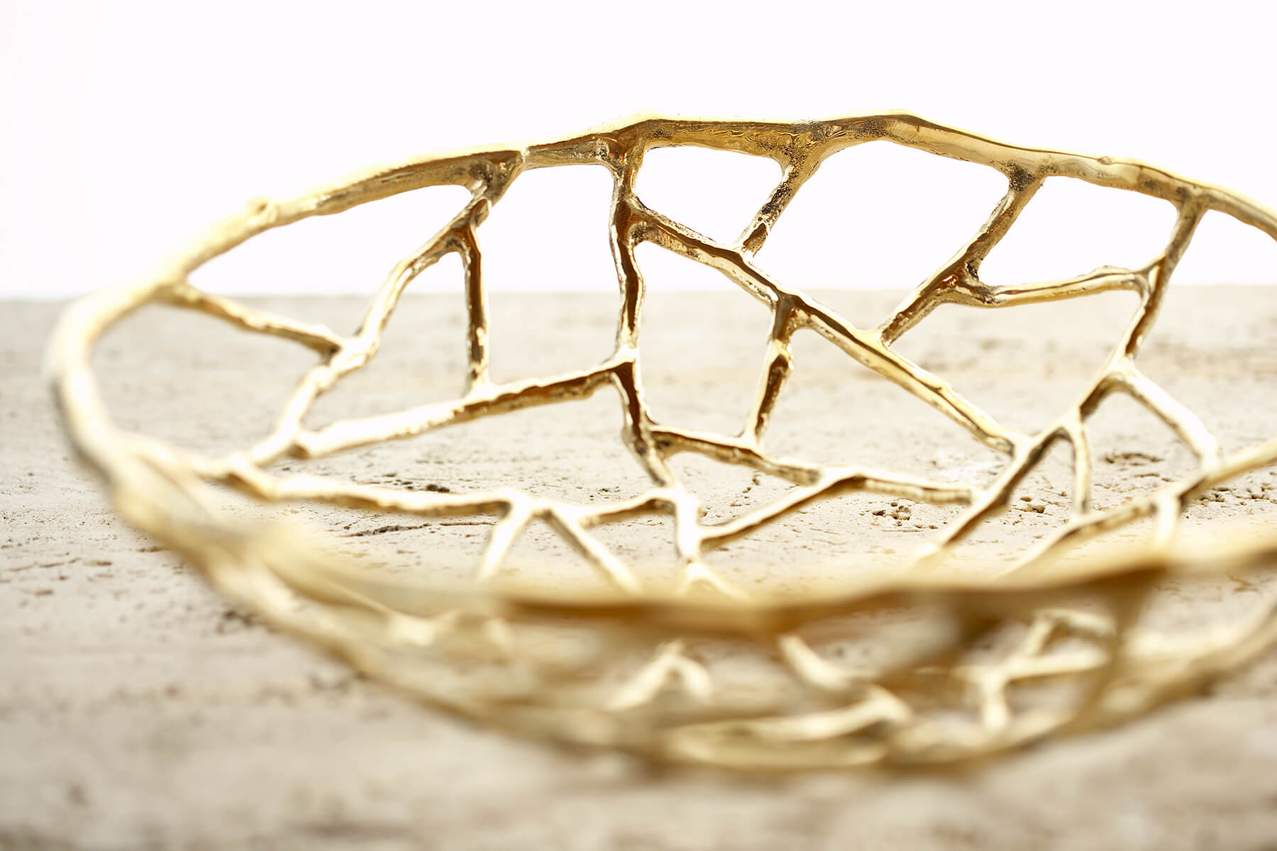 gold twig bowl interior design photography