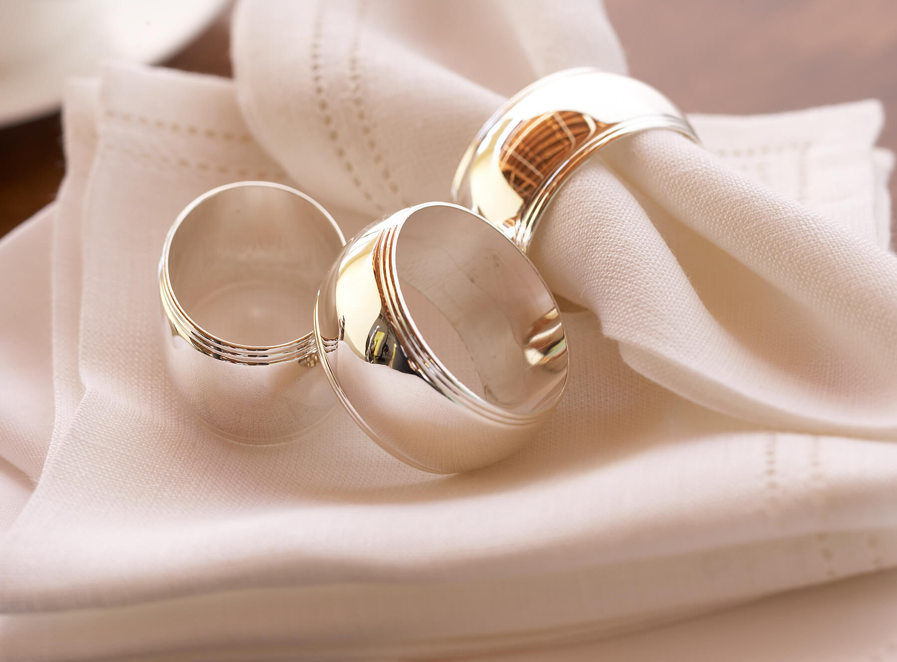 napkin rings interior design photography