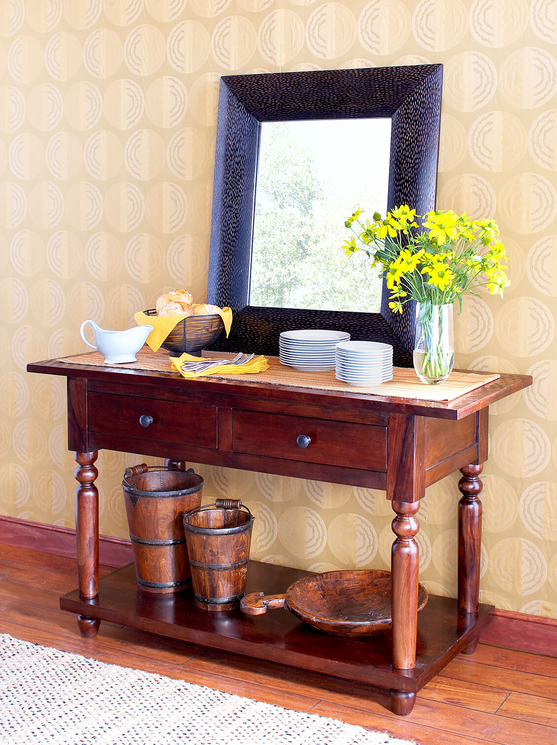 wooden buffet table great interior design photography
